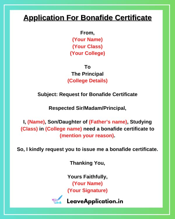 Request Letter For Bonafide Certificate From School, Application For Bonafide Certificate For Scholarship, Application For Bonafide Certificate, Application Letter For Bonafide Certificate, Application For Bonafide Certificate From College