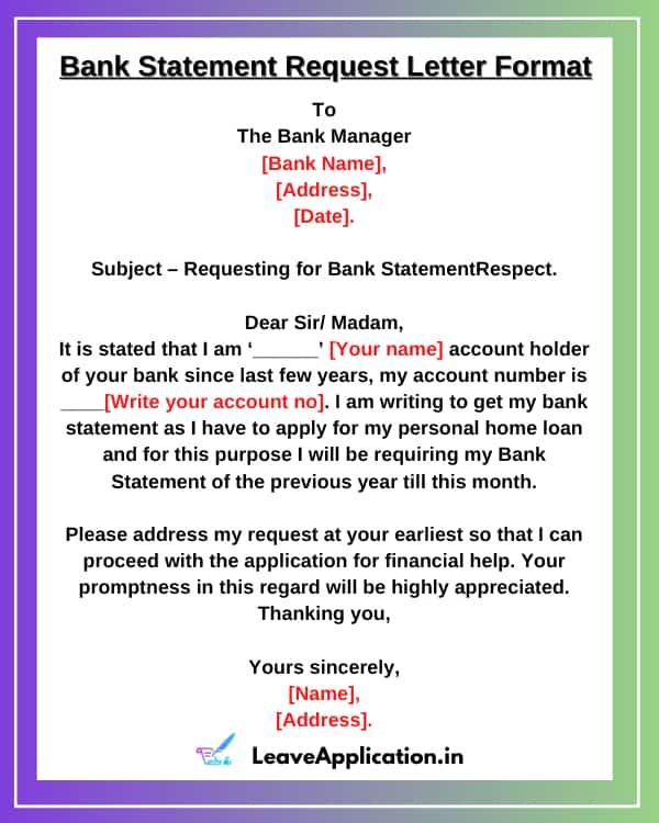 Bank Statement Request Letter Format, Request Letter For Bank Statement, Bank Statement Letter, Authorization Letter For Bank Statement, Request Letter For Bank Statement Format Sample In Word, Application For Bank Statement