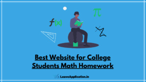 Website for College Students Math Homework